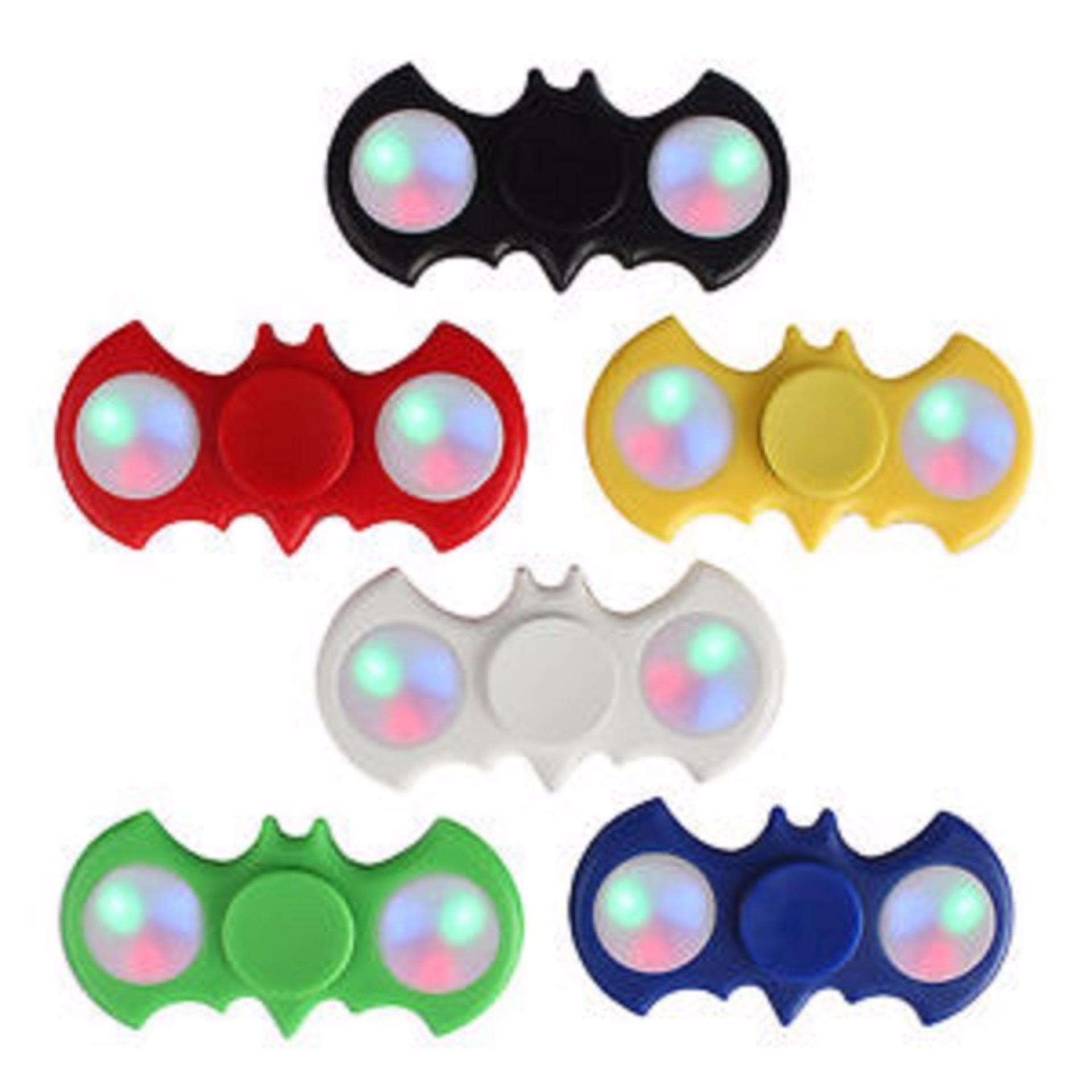 Fidget Spinner Batman With LED Hand Toys Focus Games / MainanSpinner Tangan Model Batman Penghilang Kebiasan