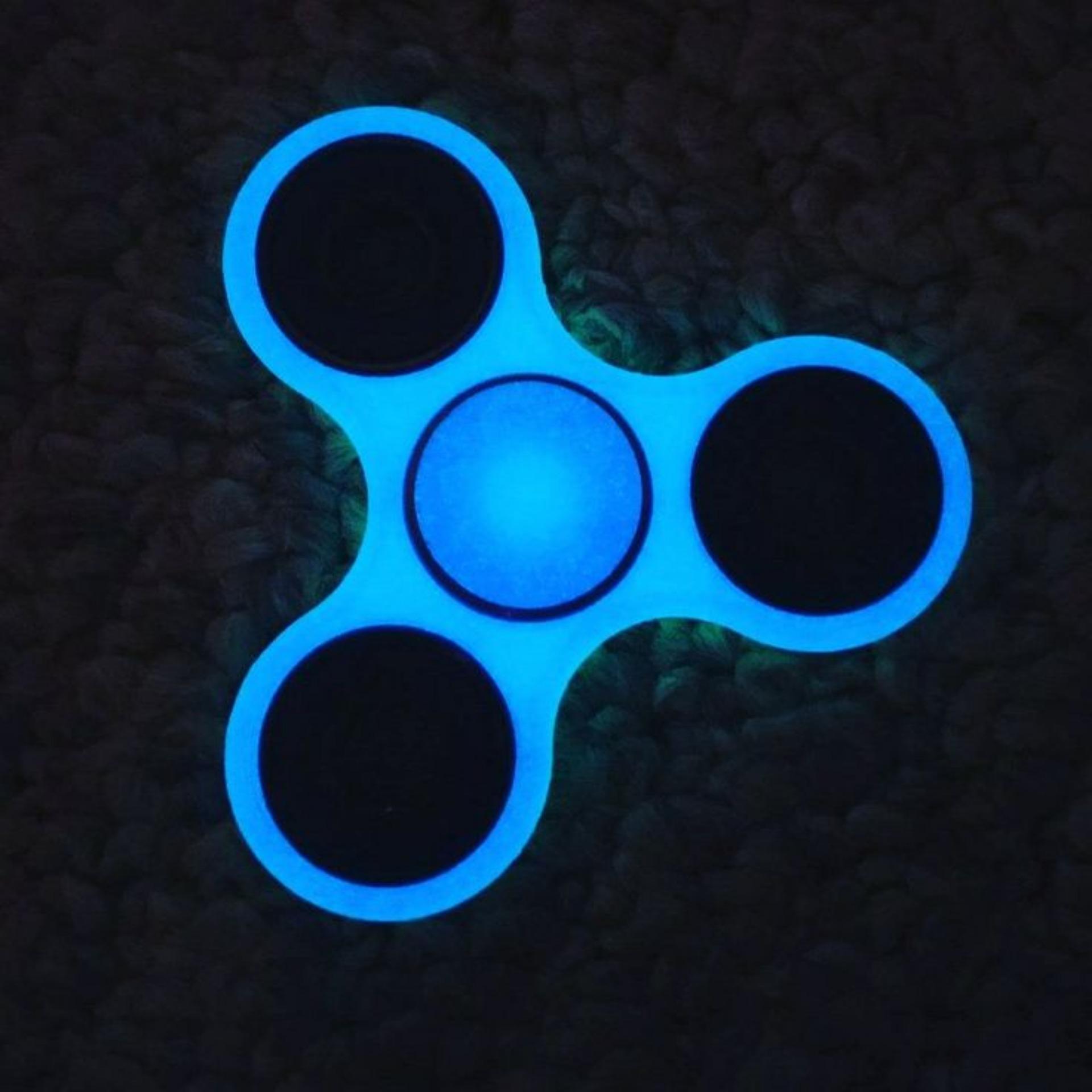Fidget Spinner Ceramic Toys Tri Ball Bearing Edc Sensory Triangle Keramik Glow In The Dark