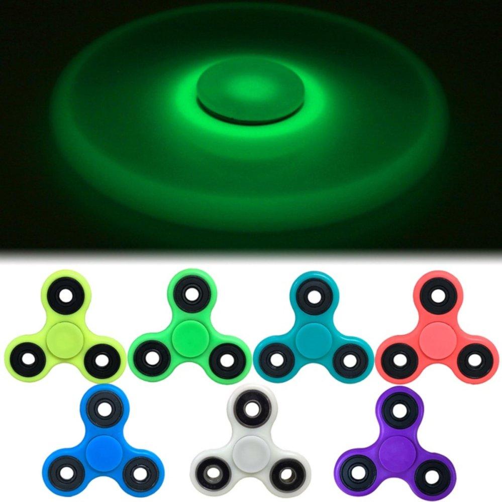 ... Fidget Spinner Glow in the Dark Hand Toys Mainan Tri-Spinner EDC Ceramic Ball Focus ...