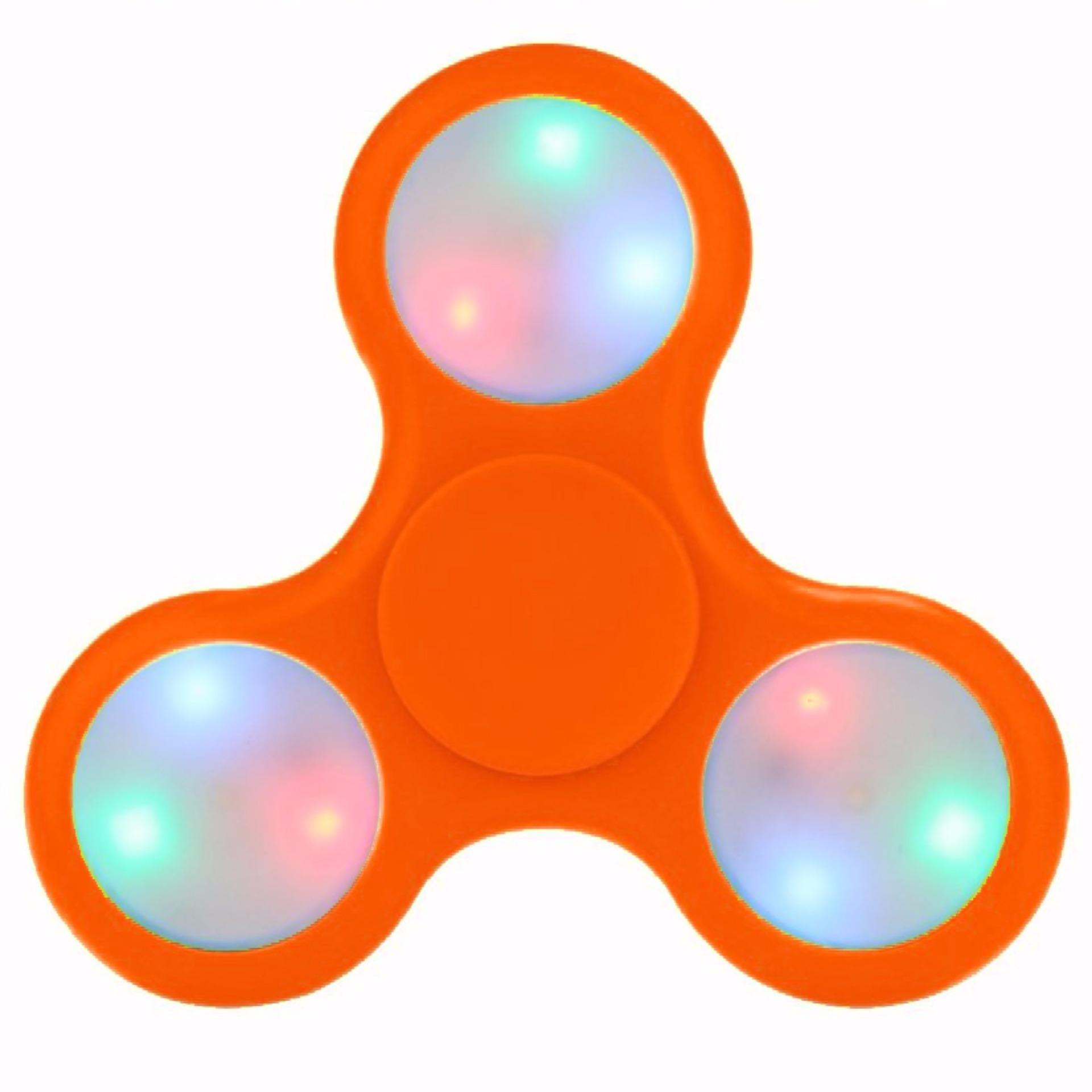 Fidget Spinner LED Light Colours Disco ON OFF Hand Finger Toys for Focus Anxiety & Stress