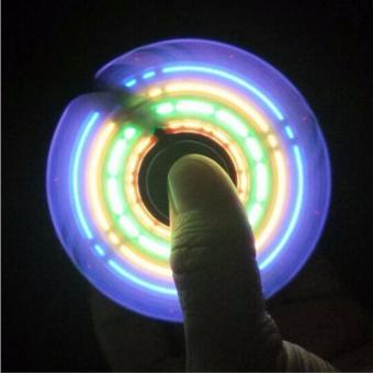 Fidget Spinner Model LED GRAMOR PATTERN Premium Mainan Spinner Tangan Penghilang Kebiasan Buruk Bentuk POLA LED