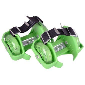 Periksa Peringkat Flashing Roller Skate with 3 Flashing Light - Hijau Pencarian  Termurah cae4bd7f98