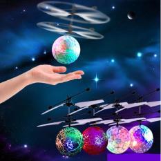 Flying Ball / helicopter Quadcoper Drone Sensor Tangan Toy Mainan Anak Terbang - Bola - Babamu - Hijau