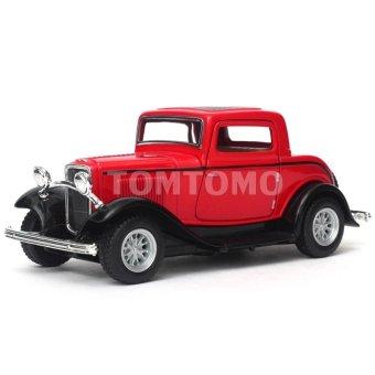 Jual Ford 3 Window 1932 Merah Diecast Miniatur Mobil Mobilan Klasik