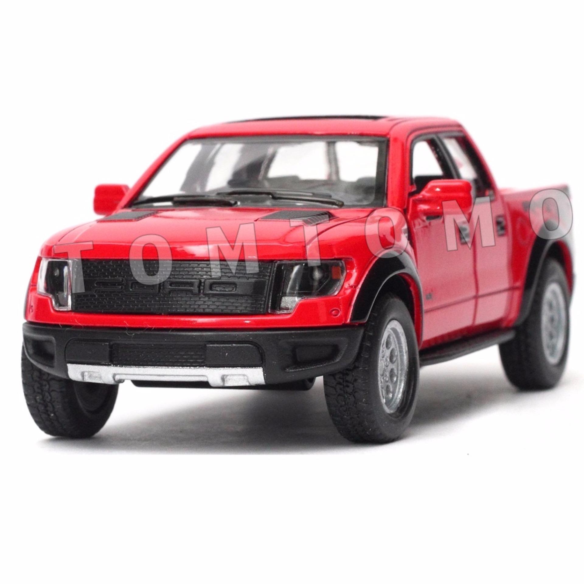 Pelacakan Harga Ford F 150 Raptor Pickup Merah Diecast Miniatur