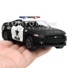 Ford Mustang GT '15 Police Diecast Miniatur Mobil Mobilan Sedan Polisi Mainan Kado Anak Cowok Kinsmart