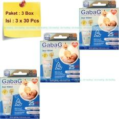 Gabag Kantong ASI BPA Free 100ml - Breastmilk Storage Bag Newborn - Paket 3 Box (Biru)