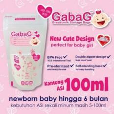 GABAG Plastik ASI 100ml - Breastmilk Storage Bag - Kantong Asi - Kantung Asi - pink