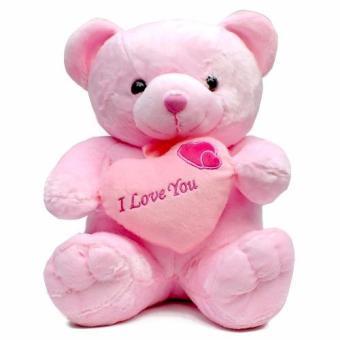 Galeri Boneka Boneka Teddy Bear Love Besar - Pink