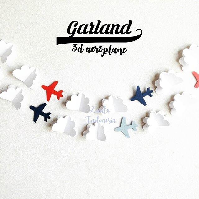 Shopping Comparison Garland Bunting Flag / Aeroplane / 5 pcs / multicolor