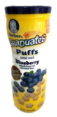 Gerber Graduates Puff Blueberry - Cereal Snack Bayi