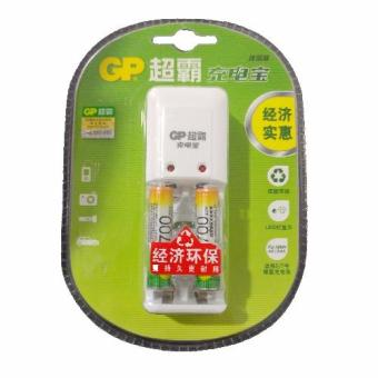 GP 700mAh AAA Rechargeable Battery AND charger kits for AA/AAA(Chinese Retail Packaging)- White - 5