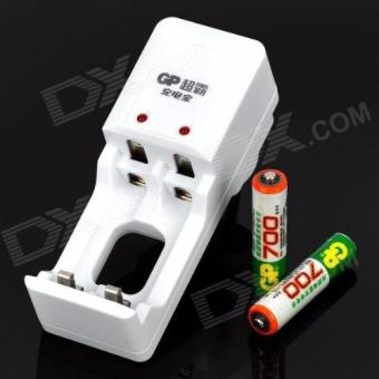 GP 700mAh AAA Rechargeable Battery AND charger kits for AA/AAA(Chinese Retail Packaging)- White - 4
