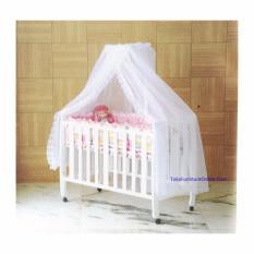 Hakari Baby Box Ranjang Tempat Tidur Bayi Kayu HK 022 Putih (KHUSUS JADETABEK)