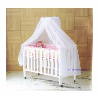 harga Hakari Baby Box Ranjang Tempat Tidur Bayi Kayu HK 022 Putih (KHUSUSJADETABEK) Lazada.co.id