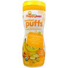 Happy Baby Organics Superfood Puff Banana & Pumpkin - Biskuit snack bayi Happy Baby Organik Rasa Pisang dan Labu
