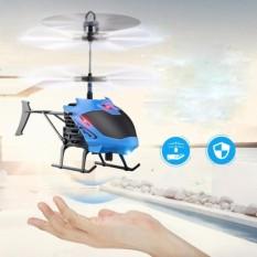 Helikopter Terbang Drone Mainan Anak Sensor Tangan - Biru