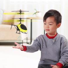 Helikopter Terbang Drone Mainan Anak Sensor Tangan - Kuning