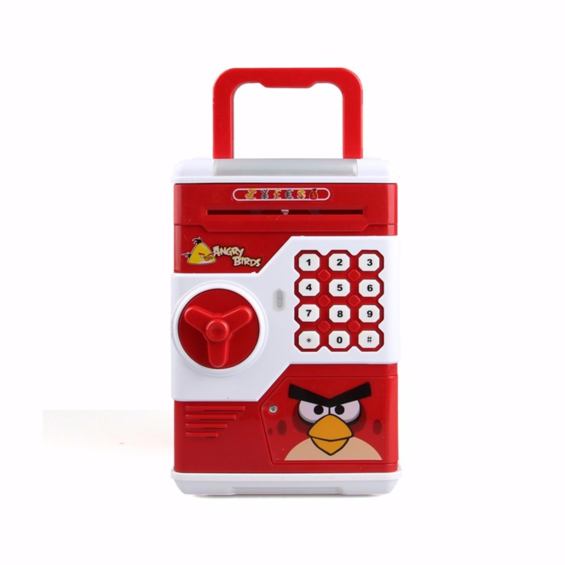 ... Hoshizora Password Safe Electronic Locks Saving Box Piggy Bank - Character - Merah ...