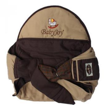 Baby Joy Gendongan Samping Topi Saku Bordir - Coklat
