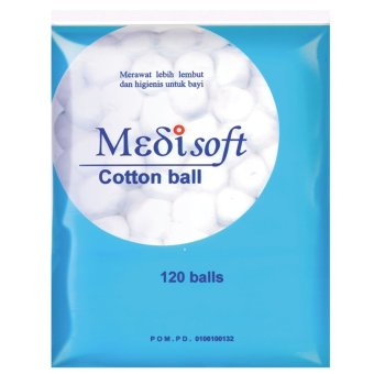 Harga Medisoft Cotton Balls / Kapas Bola - 12packs