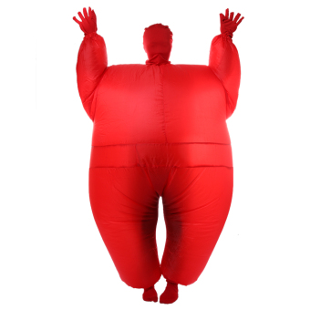 Harga MagiDeal Adult Chub Suit Inflatable Blow Up Full Body Costume Fancy Jumpsuit Red - intl