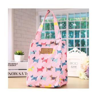 Harga Coolerbag Korean - Pink Dog
