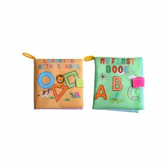 Harga EELIC AYI-BU05 1 SET = 2 PCS SHAPES & ABC BABY BOOK MAINAN BUKU BAYI KAIN