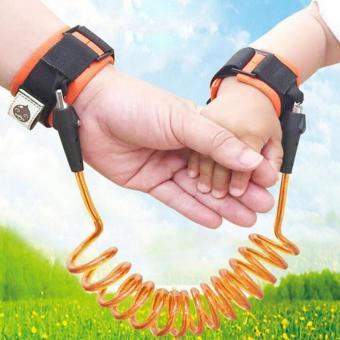 1.5m Adjustable Kids Safety Anti-lost Wrist Link Band Children Bracelet Wristband Baby Toddler Harness Leash Strap ...