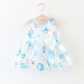 Harga Baby Girl Kids Newborn Summer Fashion Dress - intl