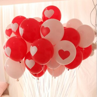 Harga Balon Latex Motif Love 25 Pcs