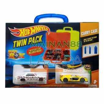 Hot Wheels Tempat Mobil Twin Pack Hot Box isi 2 - Multicolour .