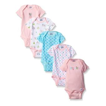 Harga Baby Grow - Jumper 5in1 Lengan Pendek Fashion Baby - Romper Bodysuit - 5Pcs- Girls