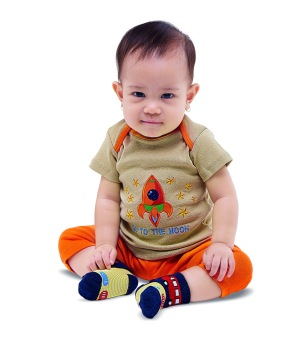 Harga Bearhug 3-Piece Sets Bayi Laki-laki Bordir Roket - Multicolor