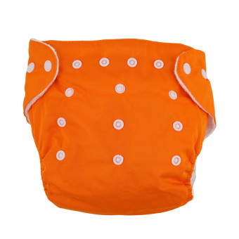 Harga HengSong New Reusable Nappies for Baby Babies Newborn Cloth Nappy Diapers Adjustable Newborn to Toddler Orange