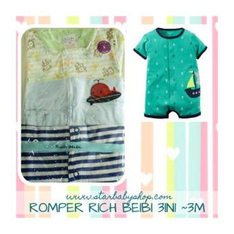 Harga Baby Grow - Rich Beibi Romper 3in1 - Boys - 3M