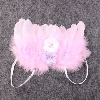 Baby Girls Angel Wings Wing Set Feather Newborn Photography - 5