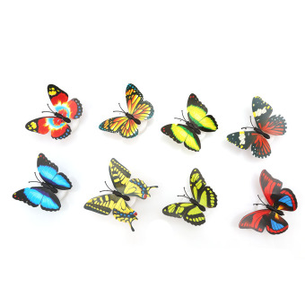 Harga Yingwei 10pcs/set Changing Multi Color Butterfly LED Night Light Home Decor Lamp