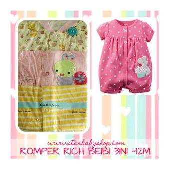 Harga Baby Grow - Rich Beibi Romper 3in1 - Girls - 12M