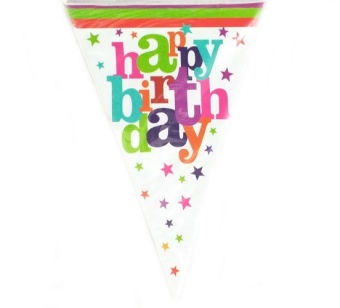 Harga Banner Motif Happy Birthday 8 - 8 Pcs