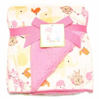Harga Freeshop Selimut Bayi Full Cotton Female Monkey Mix S207 - PInk