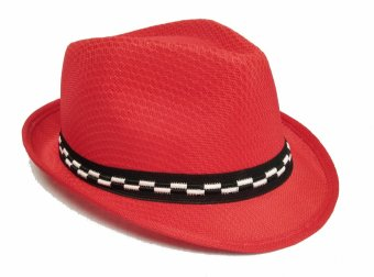 Harga D & D Collection Fedora Hat For Kids / Topi Fedora Jazz Anak Unisex - Merah