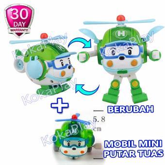 Robocar Poli 2 in 1 Transformable Robot + Pullback Car Toy Mainan Berubah dan Mobil Lontar
