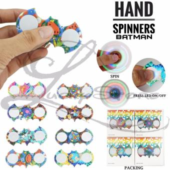 Lucky - Fidget Hand Spinner MOTIF With LED Hand Toys Focus Games - Mainan Spinner Nyala