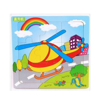 Tomindo Puzzle Kayu Mini Transport - Helikopter ...