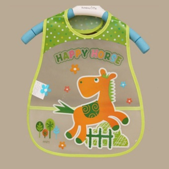 Harga Jiayiqi Cute Baby Bibs Waterproof Horse Cartoon Children Bibs Infant Burp Cloths Clothing Towel - intl