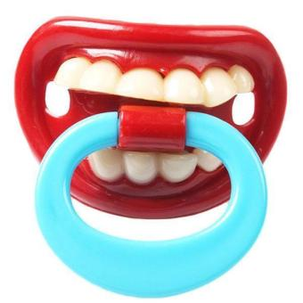 Harga Hang-Qiao Baby Orthodontic Pacifier Funny Teeth Nipples NO.4
