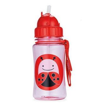 Freeshop Botol Minum Anak Skiphop Bug - Merah .