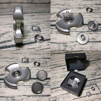 REIZSZ Luxury Stone Wash Titanium Metal Three Leaf Hand Spinner High Quality EDC .