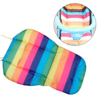 Harga Cotton Striped Liner Infant Stroller Mat For Baby Kids - intl